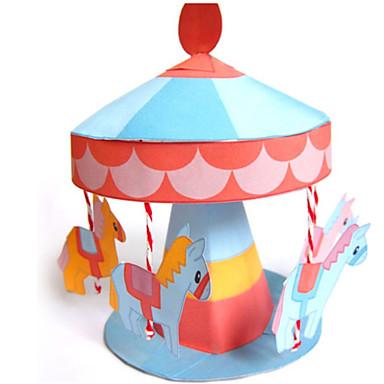 voordelige 3D-puzzels-3D-puzzels Bouwplaat Modelbouwsets Paard Carrousel Merry Go Round DHZ Klassiek Kinderen Unisex Jongens Speeltjes Geschenk