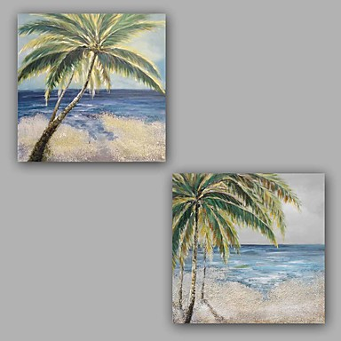 HANDMÅLAD Abstrakta landskap Artistisk Abstrakt Konst Dekor   Retro Chic  och modern Dekorativ Två paneler Kanvas Hang målad oljemålning 6025678 2019  – ... ef6c3bc32a98f