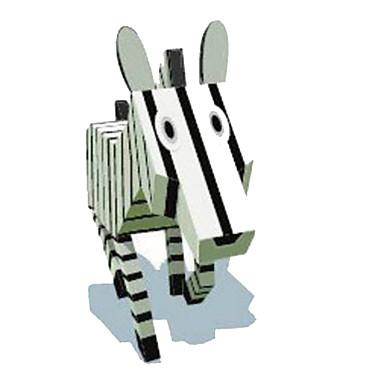 levne 3D puzzle-3D puzzle Papírové modely Modele Kůň Zebra Zvířata Udělej si sám Klasické Animák Dětské Unisex Hračky Dárek