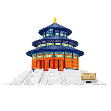 levne 3D puzzle-WANTOY Stavební bloky Dřevěné puzzle Dřevěný model Slavné stavby Čínské stavby chrám Boží Unisex Chlapecké Dívčí Hračky Dárek