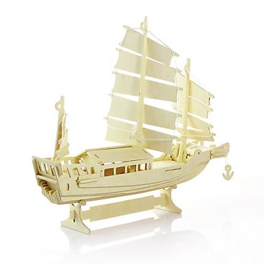 levne 3D puzzle-Modele Dřevěný model Loď Dřevěný Unisex Hračky Dárek