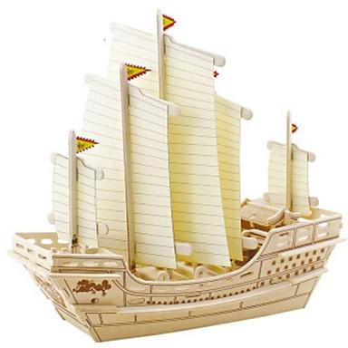 levne 3D puzzle-Robotime 3D puzzle Puzzle Dřevěný model Válečná loď Loď Udělej si sám Dřevěný Přírodní dřevo Dětské Unisex Hračky Dárek