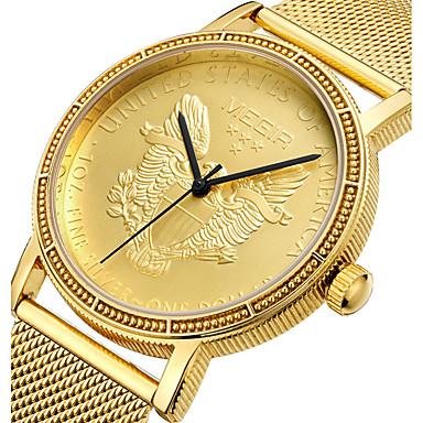 levne Pánské-Pánské Sportovní hodinky Vojenské hodinky Náramkové hodinky japonština Křemenný Nerez Zlatá 30 m Voděodolné kreativita Punk Analogové Přívěšky Luxus Na běžné nošení Cikánské Animák - Zlatá
