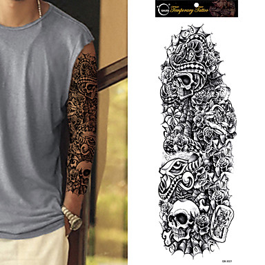 5a3c547e2 1Pc Temporary Tattoo Sleeve Designs Full Arm Waterproof Tattoos For Cool  Men Women Transferable Tattoos Stickers On The Body Art 6043385 2019 – $0.99
