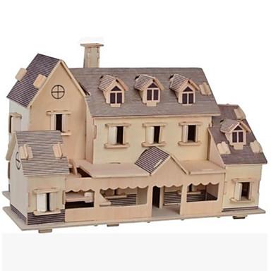 levne 3D puzzle-3D puzzle Puzzle Dřevěné puzzle Dřevěný model Modele Slavné stavby Dům Other Udělej si sám Dřevo Přírodní dřevo Klasické Dětské Dospělé