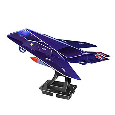 levne 3D puzzle-3D puzzle Puzzle Modele Letadlo Fighter Slavné stavby Udělej si sám lepenkový papír Klasické Animák Dětské Unisex Hračky Dárek
