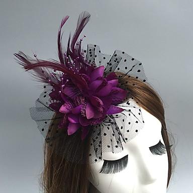 preiswerte Partyhut-Netz Fascinatoren / Hüte / Kopfbedeckung mit Blumig 1pc Hochzeit / Besondere Anlässe / Party / Abend Kopfschmuck