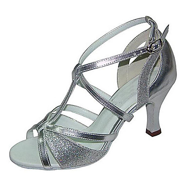 067624c90fa Women s Latin Shoes Leatherette Sandal   Sneaker Buckle Low Heel  Customizable Dance Shoes Silver   Professional 6013877 2019 –  44.99