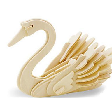 levne 3D puzzle-3D puzzle Puzzle Dřevěný model Dinosaurus Letadlo Labuť Udělej si sám Dřevěný Klasické Dětské Dospělé Unisex Chlapecké Dívčí Hračky Dárek