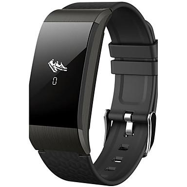 levne Pánské-Pánské Dámské Sportovní hodinky Inteligentní hodinky Náramkové hodinky Silikon Černá / Stříbro / Zlatá 30 m Voděodolné Monitor pulsu Kalendář Digitální Přívěšky Luxus Na běžné nošení Skládaný Módní -