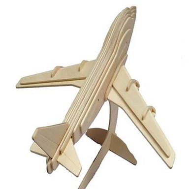 levne 3D puzzle-3D puzzle Puzzle Dřevěný model Modele Letadlo Simulace Udělej si sám Dřevo Přírodní dřevo Klasické Dětské Unisex Dárek