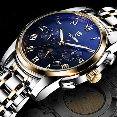 levne Dámské-Pánské Náramkové hodinky Nerez Bílá / Zlatá Voděodolné Kalendář kreativita Analogové Přívěšky Luxus Klasické Na běžné nošení Skládaný - Bílá Černá Modrá