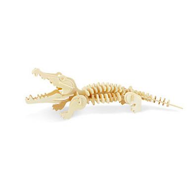 voordelige 3D-puzzels-3D-puzzels Legpuzzel Houten modellen Vliegtuig Krokodil DHZ Puinen Klassiek Kinderen Unisex Speeltjes Geschenk
