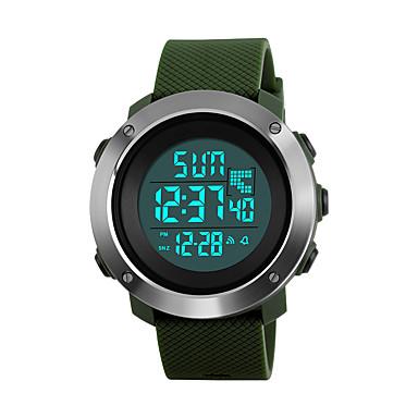 cheap Women's Digital Watches-SKMEI Women's Sport Watch Military Watch Wrist Watch Japanese Digital Quilted PU Leather Black / Green / Grey 50 m Water Resistant / Waterproof Alarm Calendar / date / day Digital Fashion - Black
