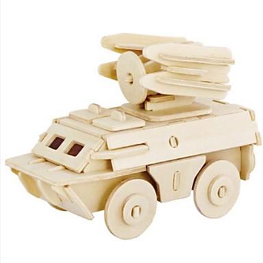 levne 3D puzzle-Robotime 3D puzzle Puzzle Dřevěný model Tank Lev Udělej si sám Dřevěný Přírodní dřevo Dětské Unisex Hračky Dárek