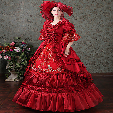 15aec4e3966c ... Πανκ Γυναικεία Φορέματα Κοστούμι πάρτι Χορός μεταμφιεσμένων Κόκκινο  Πεπαλαιωμένο Cosplay Σατέν Μακρυμάνικο Μακρύ Βραδινή τουαλέτα 6001980 2019  –  152.99