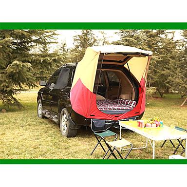 preiswerte Camping, Wandern & Trekking-2 Personen Zelt Autovorzelt Außen Regendicht Staubdicht Eine Schicht Camping Zelt 1000-1500 mm für Camping & Wandern Polyester-Taft Aluminiumlegierung