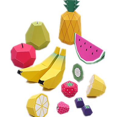 voordelige 3D-puzzels-3D-puzzels Bouwplaat Modelbouwsets Fruit DHZ Simulatie Hard Kaart Paper Klassiek Cartoon Kinderen Unisex Speeltjes Geschenk