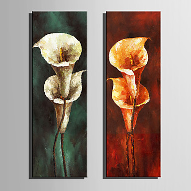 povoljno Ukrašavanje zidova-Print Stretched Canvas Prints - Cvjetni / Botanički Retro Umjetničke grafike