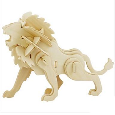 levne 3D puzzle-Robotime 3D puzzle Puzzle Modele Lev Udělej si sám Dřevěný Přírodní dřevo Dětské Unisex Hračky Dárek