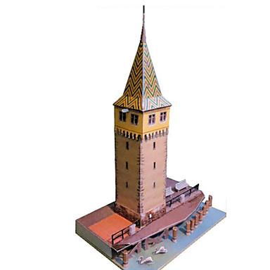 levne 3D puzzle-3D puzzle Papírové modely Modele Věž Slavné stavby Čínské stavby Udělej si sám Klasické Unisex Hračky Dárek