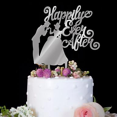 Vârfuri De Tort Zi De Naștere Nuntă Calitate Superioară Plastic Nuntă