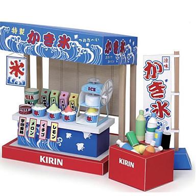 voordelige 3D-puzzels-3D-puzzels Bouwplaat Modelbouwsets Huis IJs DHZ Hard Kaart Paper Klassiek Cartoon Kinderen Unisex Jongens Speeltjes Geschenk