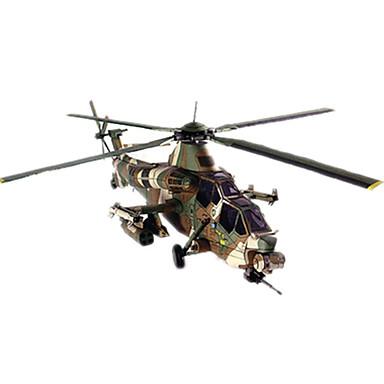 levne 3D puzzle-3D puzzle Papírové modely Modele Helikoptéra Udělej si sám lepenkový papír Klasické Helikoptéra Dětské Unisex Chlapecké Hračky Dárek