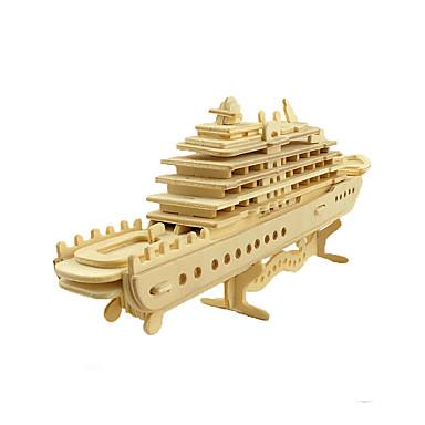 levne 3D puzzle-3D puzzle Puzzle Modele Loď Udělej si sám Simulace Dřevěný Klasické Dětské Dospělé Unisex Chlapecké Dívčí Hračky Dárek / Dřevěný model