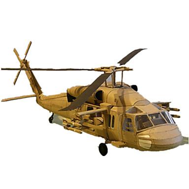 levne 3D puzzle-3D puzzle Papírové modely Modele Letadlo Eagle Helikoptéra lepenkový papír Helikoptéra Dětské Unisex Chlapecké Hračky Dárek