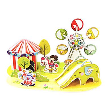 levne 3D puzzle-3D puzzle Puzzle Modele Slavné stavby Hřiště Udělej si sám lepenkový papír Klasické Anime Animák Dětské Unisex Hračky Dárek