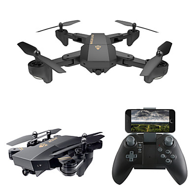 RC Drone VISUO XS809W RTF 4CH 6 Axis 2.4G With HD Camera 0.3MP 480P RC Quadcopter One Key To Auto-Return / Headless Mode / 360°Rolling RC