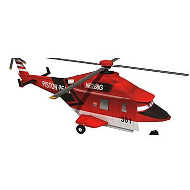 levne 3D puzzle-3D puzzle Papírové modely Modele Letadlo Helikoptéra Udělej si sám lepenkový papír Klasické Helikoptéra Dětské Unisex Hračky Dárek