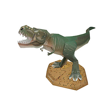 levne 3D puzzle-3D puzzle Papírové modely Modele Tyrannosaurus Dinosaurus Udělej si sám lepenkový papír Klasické Dětské Unisex Chlapecké Hračky Dárek