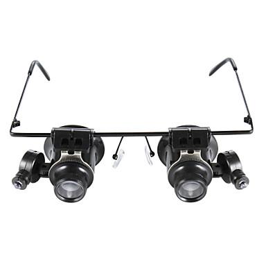 رخيصةأون قياس/ أدوات القياس و الفحص-اكتب نظارات 20X المكبر مع الصمام ضوء أبيض
