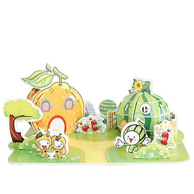 levne 3D puzzle-3D puzzle Puzzle Modele Slavné stavby Dům Ovoce Udělej si sám lepenkový papír Klasické Anime Animák Dětské Unisex Hračky Dárek