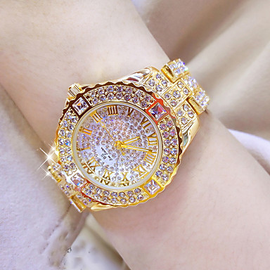 cheap Top Sellers-Women's Luxury Watch Wrist Watch Diamond Watch Ladies Water Resistant / Waterproof Stainless Steel Silver / Gold Analog - Gold Silver Golden Watch with 4pcs Bracelets One Year Battery Life