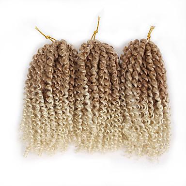 povoljno Ekstenzije za kosu-Kosa koja se plete Kovrčav Bouncy Curl Heklati Pre-loop kukičanje Pletenice Ekstenzije od ljudske kose Kose za Toyokalon Kanekalon 60 korijena / pakiranja Sušilo za pletenice Dnevno
