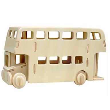 levne 3D puzzle-Robotime 3D puzzle Puzzle Dřevěný model Autobus Lev Udělej si sám Dřevěný Přírodní dřevo Dětské Unisex Hračky Dárek