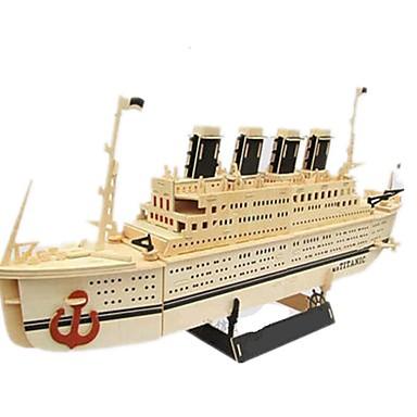 levne 3D puzzle-3D puzzle Puzzle Modele Loď Udělej si sám Simulace Dřevěný Klasické Dospělé Unisex Hračky Dárek