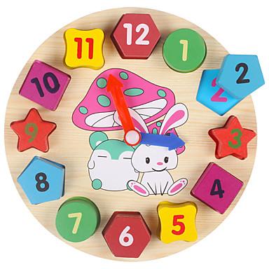voordelige Rekenspeelgoed-Houten klok speelgoed Rekenspeelgoed Rond Klok Onderwijs Kinderen Speeltjes Geschenk