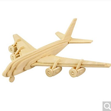 levne 3D puzzle-3D puzzle Puzzle Dřevěný model Letadlo Udělej si sám Dřevěný Přírodní dřevo Unisex Hračky Dárek