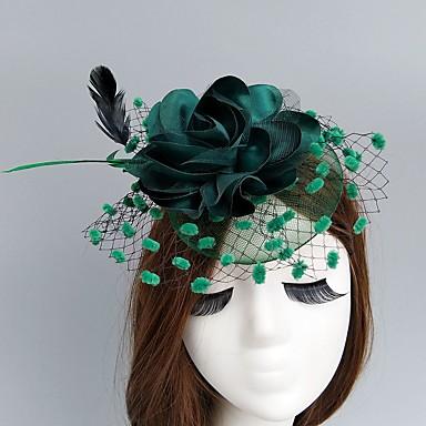 povoljno Party pokrivala za glavu-Net Fascinators / kape / Šeširi s Cvjetni print 1pc Vjenčanje / Special Occasion Glava
