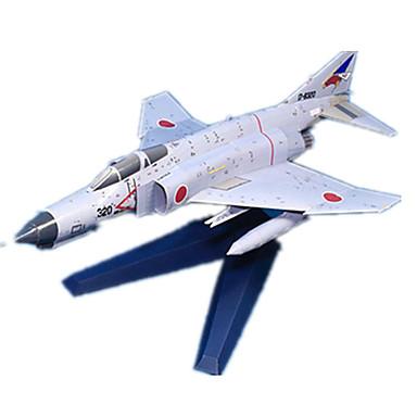 levne 3D puzzle-3D puzzle Papírové modely Modele Letadlo Fighter Duch Udělej si sám lepenkový papír Klasické Dětské Unisex Chlapecké Hračky Dárek