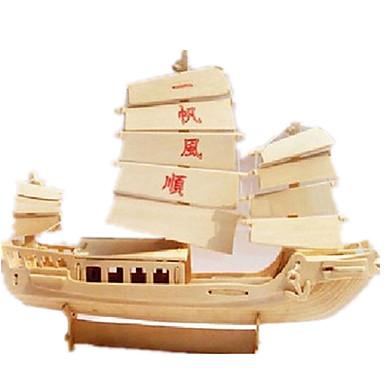levne 3D puzzle-3D puzzle Puzzle Modele Loď Udělej si sám Simulace Dřevěný Klasické Čínský styl Dospělé Unisex Hračky Dárek