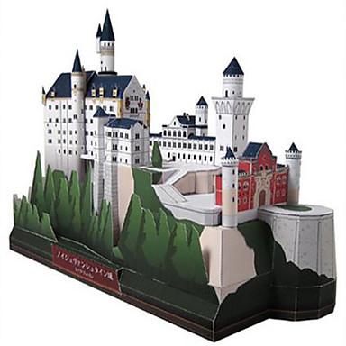 levne 3D puzzle-3D puzzle Papírové modely Modele Labuť Hrad Slavné stavby Udělej si sám lepenkový papír Klasické Dětské Unisex Chlapecké Hračky Dárek