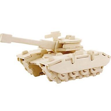 levne 3D puzzle-Robotime 3D puzzle Puzzle Dřevěné puzzle Tank Lev Udělej si sám Dřevěný Přírodní dřevo Dětské Unisex Chlapecké Dívčí Hračky Dárek