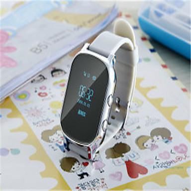 levne Dámské-Inteligentní hodinky Digitální Pryž Bílá / Zlatá Digitální Zlatá Bílá
