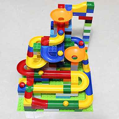cheap Toys & Games-Marble Run Race Construction Marble Track Set Marble Run STEAM Toy Plastics Kid's Unisex Boys' Girls' Toy Gift 47 pcs