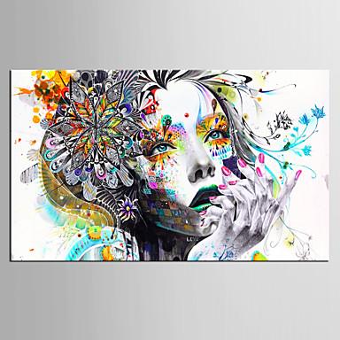 povoljno Printevi-Print Rolled Canvas Prints - Ljudi Moderna Umjetničke grafike